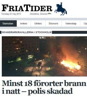 fria tider 18 bränder i natt