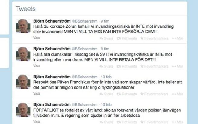Björn Schaerström tweets