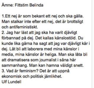 Ulf Lundell vs Bellinda Olsson